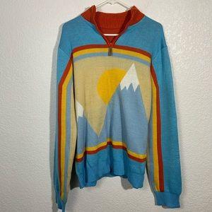 Tipsy Elves Ski Mountain Sweater Large